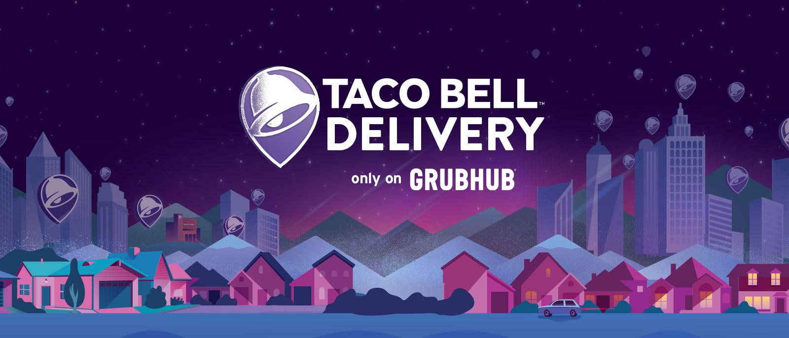 Get free delivery on your Taco Bell order of $12 or more.